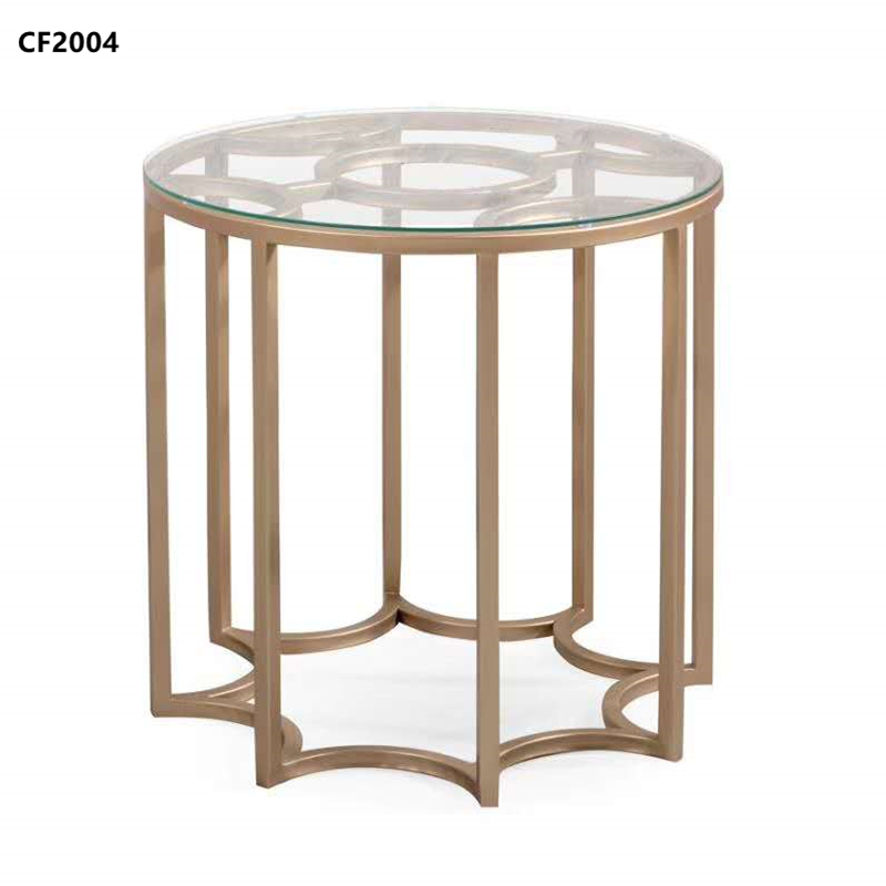 Stainless steel side table, wrought iron side table Hotel furniture Hotel supplies