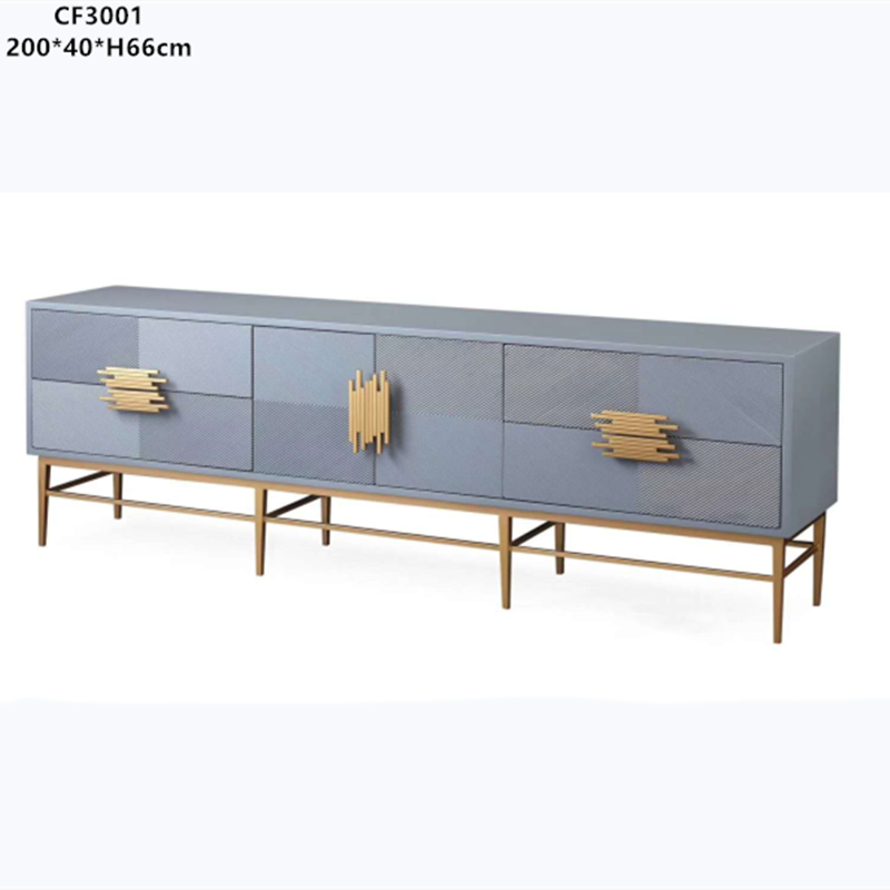 Metal TV cabinet, stainless steel TV cabinet